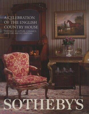 Sothebys April 2000 English Country House, Paintings, Sculpture, Furniture etc.