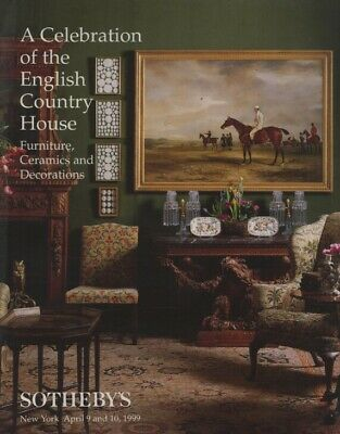 Sothebys April 1999 English Country House Furniture, Ceramics and Decorations