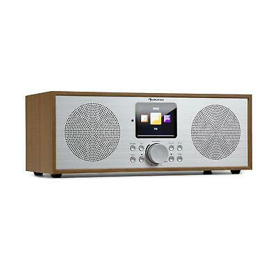 Auna Internetradio DAB+ & FM Wifi USB MP3 Bluetooth + afstandsbediening Hout