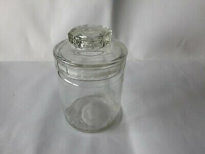 Vintage Collectable Glass Jar with glass lid