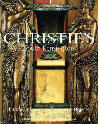 Christies September 2003 European Furniture, Decorative Objects & Picture Frames
