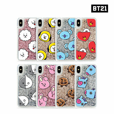 BTS BT21 Official Authentic Goods Glitter Case Hang Out Pattern Series By GCASE