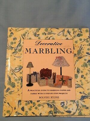 Decorative Marbling Craft Book By Solveig Stone.