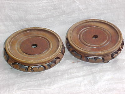 Pair of Wooden Chinese Pot / Vase stands