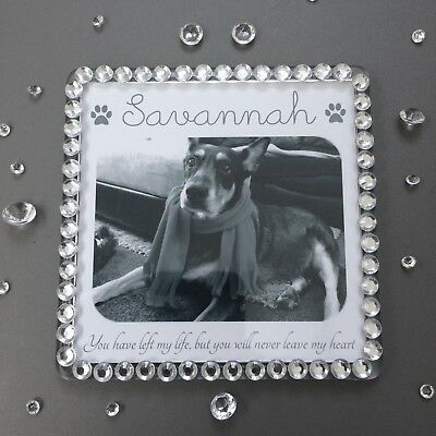 Personalised Photo Pet Memorial Dog/Cat Loss Of Pet - Magnet or Hanging Plaque