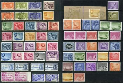 Seychelles GVI, QEII Mixed Lot of Mint and Used Stamps. Cat approx £395