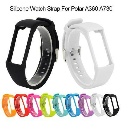Silicone Rubber Watch Band Wrist Strap Replacement For Polar A730 A360 Watch New