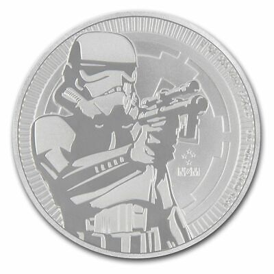 2018 1 oz New Zealand Silver $2 Niue Star Wars Stormtrooper Coin (BU)