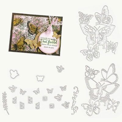 20PCS Beauty Butterfly Metal Cutting Dies Stamp Stencil DIY Scrapbooking Photo