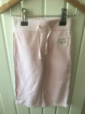 Baby Girl's Clothes 9-12mths  - Pretty Pull On Velour Trousers By NEXT