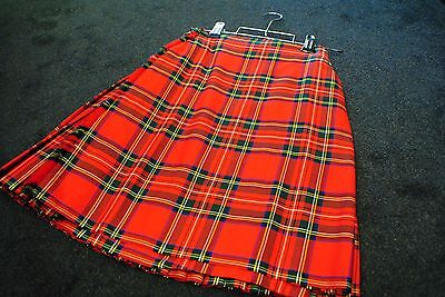"EXHIRE 100% Wool Scottish KILTS MADE IN SCOTLAND - ROYAL STEWART 28"" WAIST"