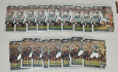 17 2017 Donuss Optic Football Philadephia Eagles Team Lot Carson Wentz Jeffery