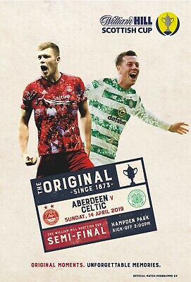 Aberdeen v Celtic 2018/19 Scottish Cup brand new football programme