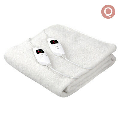 Giselle Bedding Electric Blanket Queen Size Heated Washable Timer Fitted Fleecy