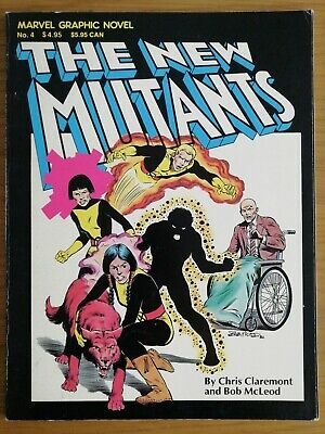 MARVEL GRAPHIC NOVEL NEW MUTANTS #4 5TH PRINTING first apperance Movie soon 1982