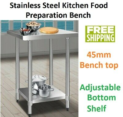 Commercial Stainless Steel Kitchen Prep Catering Food Work Bench Table 610x610mm