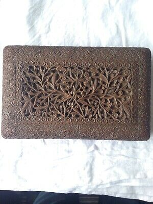 Anglo Indian carved wooden box