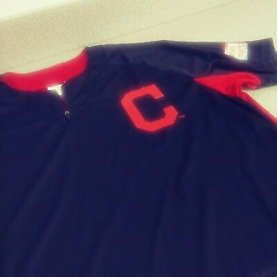 new styles d61c3 dc130 CLEVELAND INDIANS WARMUP Jersey Batting Practice XL - $25.00 ...