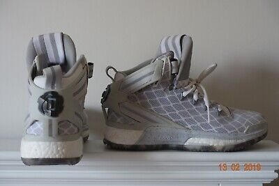 92aa02eac628 Adidas D Rose 6 Boost - White Core Black Clear Grey Basketball Shoe UK