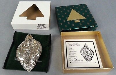 1997 Wallace Silversmiths Grande Baroque Sterling Silver Ornament Tenth Edition