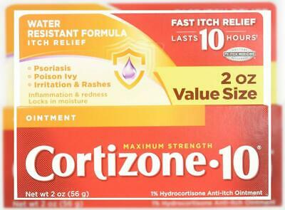 Cortizone 10 Maximum Strength Ointment, 2 Ounce, Anti-Itch Ointment for...