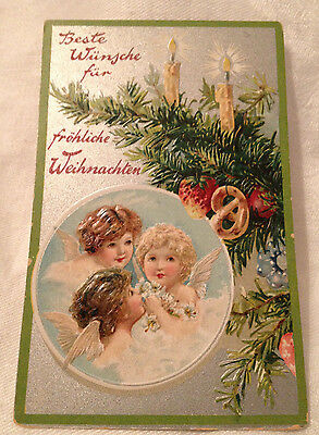 Antique Tuck's Embossed Christmas Postcard No.138 - German Title