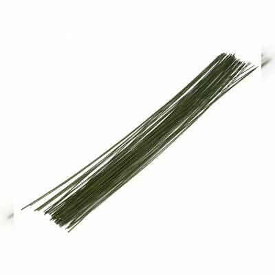 DECORA 26 Gauge Dark Green Floral Wire for Flower Wrap16 inch,50/Package