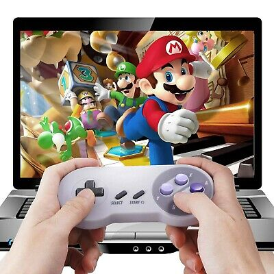WIRELESS SNES CLASSIC Controller +USB Receiver Gamepad for PC MAC