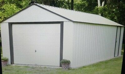 Car Garage 12 x 24 Outdoor Steel Storage Unit Workshop Shed  Building Container