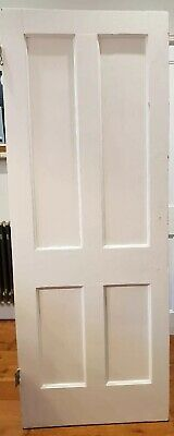 3 Reclaimed White Victorian 4 Panel Internal Doors Professionally Stripped