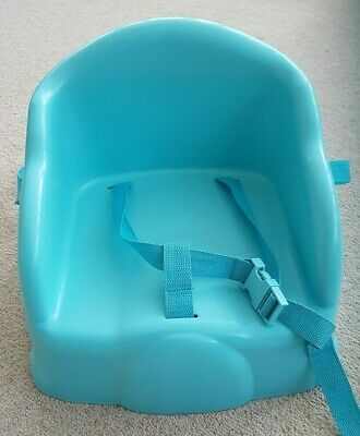 * Safety 1st First Basic Booster Seat Travel High Chair Safe Harness  Blue 63:6