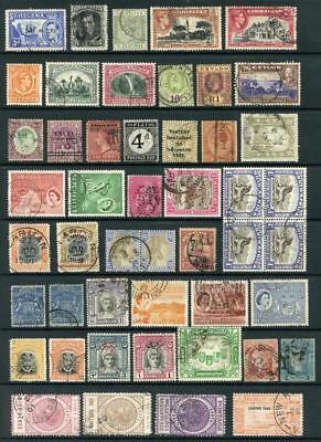 Commonwealth Stamps Mixed Lot Used inc High Values etc. Cat £1000
