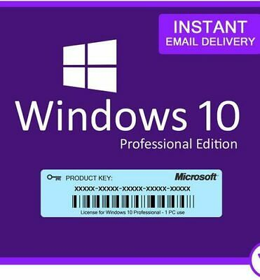 Microsoft Windows 10 Pro Professional 32/64-bit Retail Activation Product Key