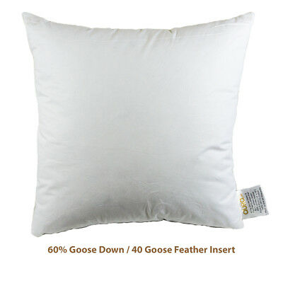 "18x18"" Designer Cushion Pads/Inners: Duck Feather, Goose Feather/Down, Synthetic"