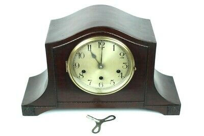 Vintage Haller Mahogany Cased Westminster Chiming Mantel Clock [5103]