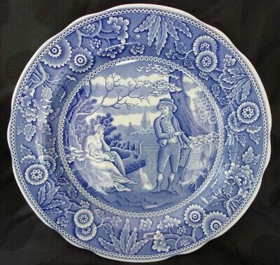 Spode Blue Room Collection WOODMAN Dinner Plate, MINT