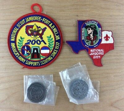 2001 National Jamboree Patches & Do A Good Deed Daily Challenge Coins