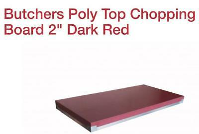 Butchers Poly Top Chopping Board 2 Dark Red 4x2ft