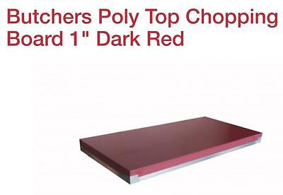 Butchers Poly Top Chopping Board 2 Dark Red 3X2ft