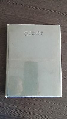Seven Men by Max Beerbohm 1919 HCDJ First Ed/1st Binding Vincent Starrett's Copy