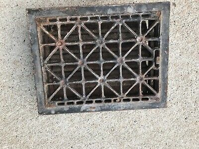 Mid Century Vtg Style Metal Grate Register Cover Vent