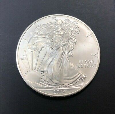2014 Silver Dollar Coin ~ 1 troy oz AMERICAN EAGLE .999 Fine