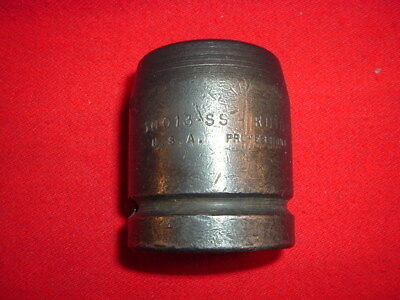 "Vintage Proto #10013Ss Steel Impact Socket 1"" Drive -13/16"" 4 Point Square Budd"