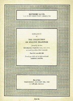 Sothebys January 1965 The Collection of English Drawings