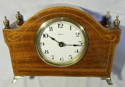 Edwardian Inlaid Mahogany Mantel Clock | Working [4129]