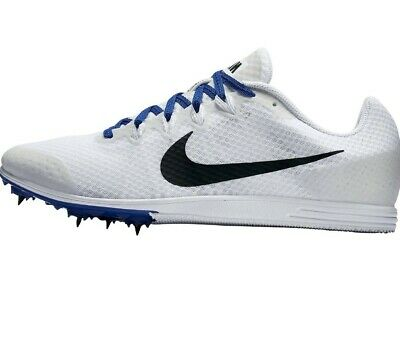 more photos e48d9 f4b21 NIKE ZOOM RIVAL D 9 Us Sz 11 Track Spikes 806556-100 White Blue