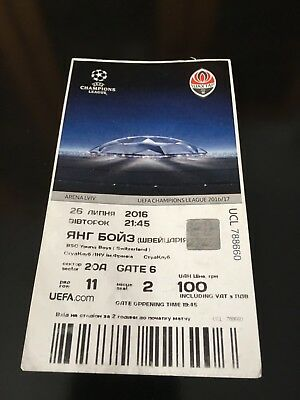 Ticket Match QL Champions League Shakhtar Donetsk- BSC Young Boys Switzerland