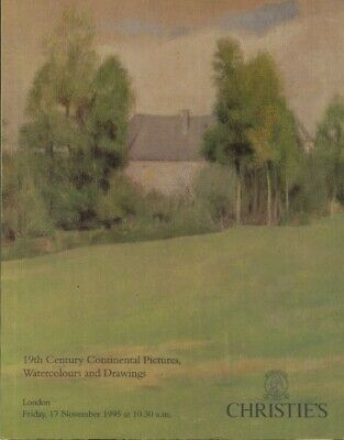 Christies November 1995 19th Century Continental Pictures, Watercolours, Drawing