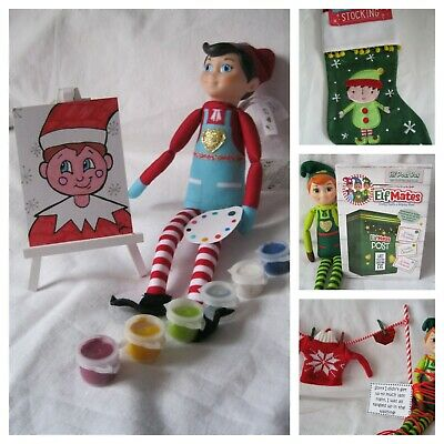Green Elf Christmas Stockings Kids Boys On The Shelf Props Accessories