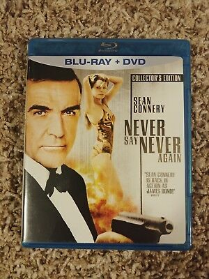Never Say Never Again * Blu Ray & Dvd Authentic Region A Usa Rare Oop